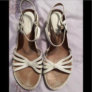 Clark's White espadrille sandals